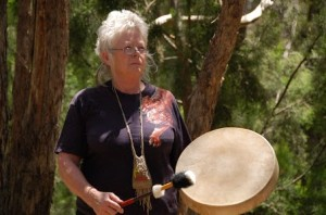 prue drumming full shot